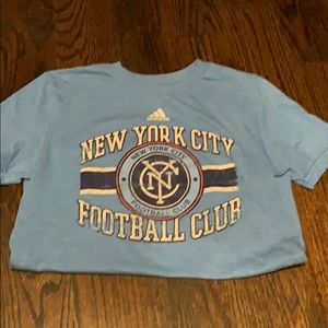 NYFC Adidas team T-shirt for soccer fans! Size M
